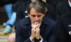 Manchester City fans sang Roberto Mancini's name at Wemble