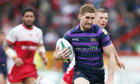 Sam Tomkins scored for four tries as Wigan eased into the Challenge Cup quarter-finals