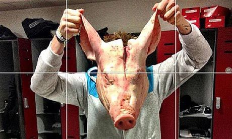 The pig's head that was put in the locker of Stoke City's Kenwyne ...