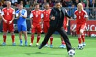 Will Smith takes a penalty during Uefa's Champions Festival at the Queen Elizabeth Olympic Park
