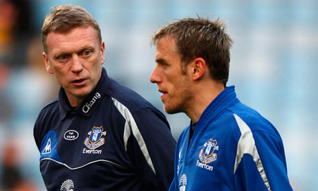 David Moyes, left, and Phil Neville