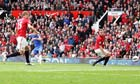 Chelsea's Juan Mata and a worried Phil Jones of Manchester United watch the winning goal