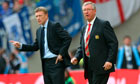 David Moyes, left, and Sir Alex Ferguson
