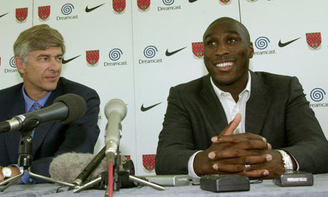 Sol Campbell and Arsene Wenger
