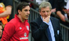 Gary Neville, left, and Roy Hodgson