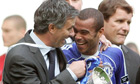 José Mourinho and Ashley Cole
