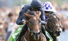 Declaration of War, ridden by Joseph O'Brien, winning the Juddmonte International Stakes at York