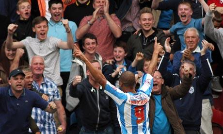 James Vaughan of Huddersfield Town