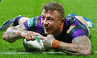 Josh Charnley scores try for Wigan Warriors v Huddersfield Giants