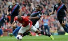 Manchester United's Ashley Young won a penalty against Crystal Palace's Kagisho Dikgacoi