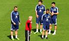 Gordon Strachan and Scotland players