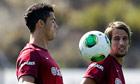Cristiano Ronaldo during Portugal training session