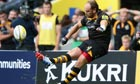 Andy Goode's conversion attempt from the final kick of the game which hit a post.