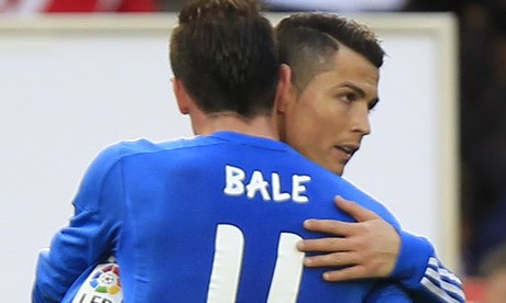 Real Madrid's Cristiano Ronaldo and Gareth Bale both scored in the 5-0