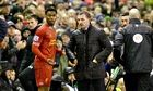 Brendan Rodgers exhanges words with Daniel Sturridge as Liverpool beat Everton