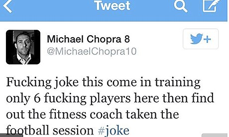 Michael Chopra tweet
