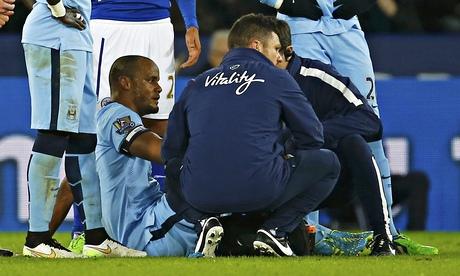 Manuel Pellegrini curses luck as Manchester City lose Dzeko and Kompany