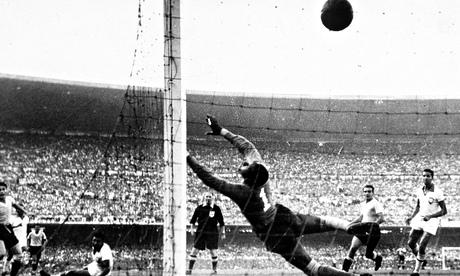 Uruguay's Ghiggia scores