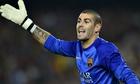 Barcelona goalkeeper Víctor Valdés