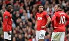 Danny Welbeck Robin van Persie Wayne Rooney Manchester United