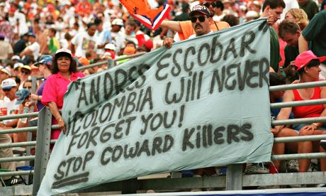 Fans pay tribute to Andrés Escobar