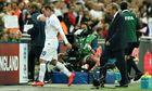 Wayne Rooney is substituted by Roy Hodgson