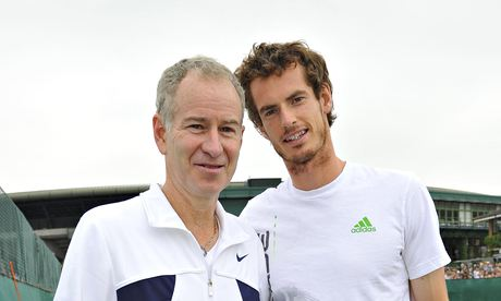 Andy Murray, right, says he has always got on well with John McEnroe.
