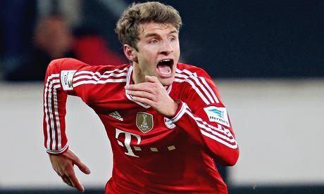 Bayern Munich's Thomas Müller