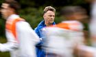 Louis van Gaal watches his Holland players in training