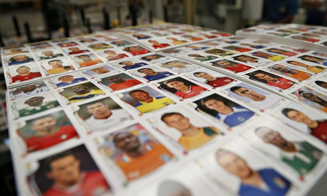 freshly printed panini stickers