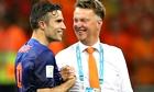 Spain v Holland: Louis van Gaal, right, and Robin van Persie