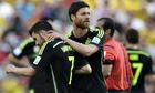 Xabi Alonso and David Villa