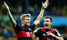 Toni Kroos, left, and Miroslav Klose of Germany