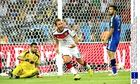 Mario Götze of Germany wheels away after scoring the winning goal in the World Cup final