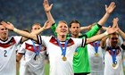 Bastian Schweinsteiger of Germany celebrates