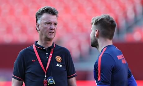 Louis van Gaal Luke Shaw Manchester United