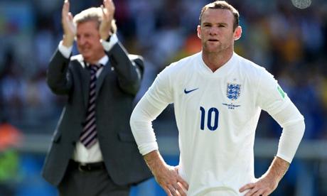 Costa Rica v England: Roy Hodgson and Wayne Rooney