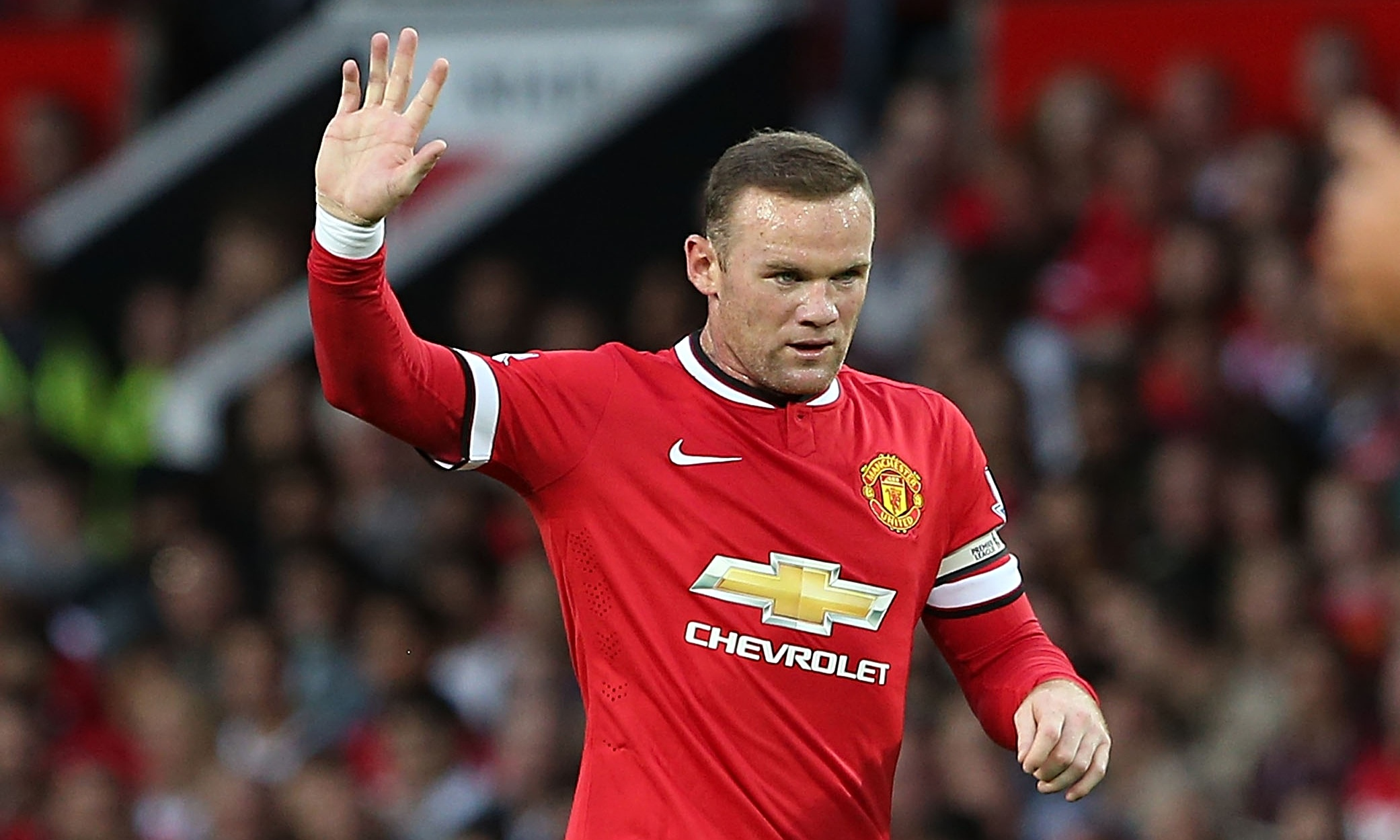 Wayne Rooney Manchester United 2014 Wayne Rooney named Manchester Uniteds club captain by Louis van