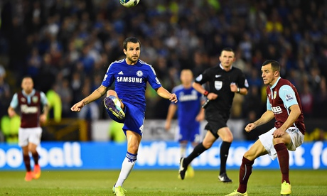 Chelsea's Cesc Fábregas set up his side's second goal of the game against Burnley on Monday night.
