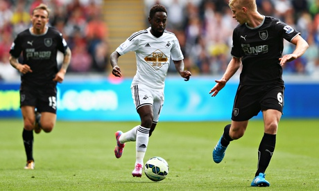 Nathan Dyer scored the first goal for Swansea City against Burnley
