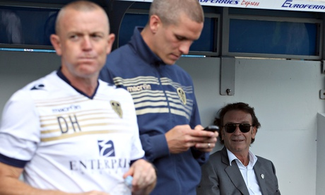 Former Forest Green Rovers boss Dave Hockaday, left, with Massimo Cellino in the background