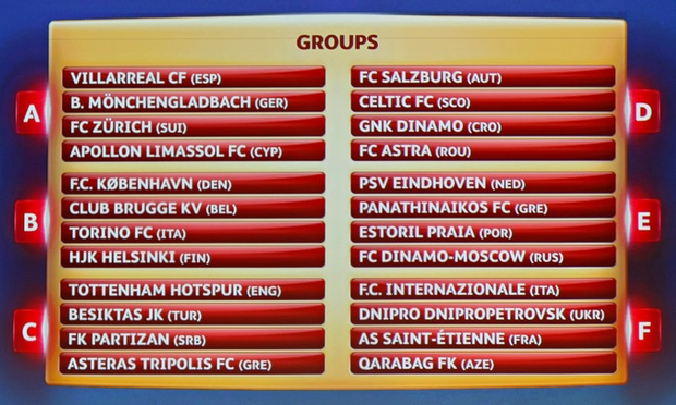 europa league cup draw