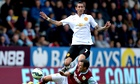 Manchester United's Ángel Di María in his debut against Burnley in Premier League at Turf Moor.