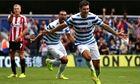 QPR's Charlie Austin celebrates scoring against Sunderland in the Premier League