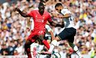 Mario Balotelli, left, made his debut on Sunday against Tottenham an
