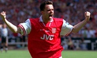 Arsenal's Marc Overmars celebrates