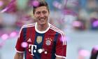 Robert Lewandowski in his new Bayern Munich colours