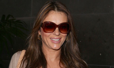 Liz Hurley at airport
