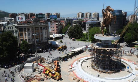 Alexander the Great Statue Installed in Skopje