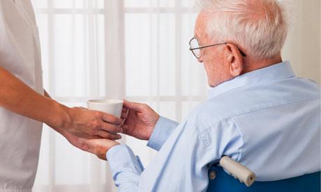 elderly man drink